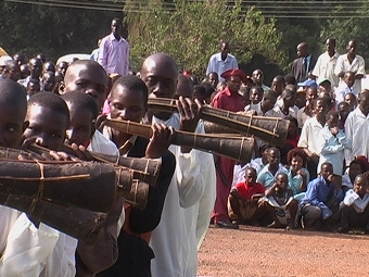Amakondere trumpet players